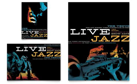 jazz  event flyer ad template word publisher