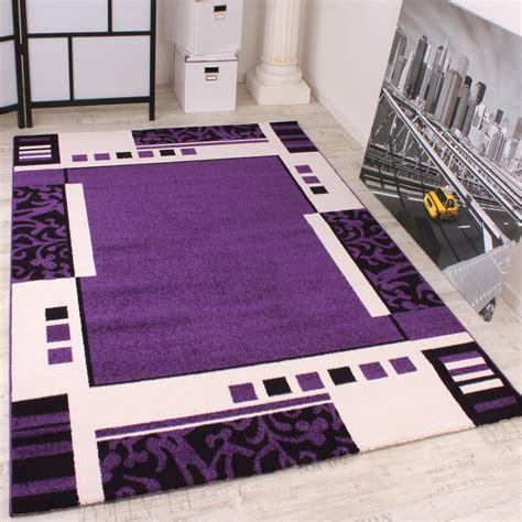 designer teppich lila schwarz weiss teppichcenter