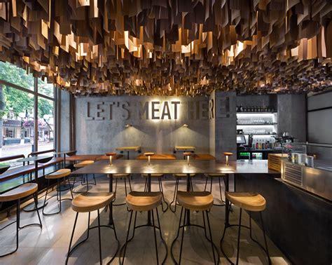 wine cellar wall shade burger restaurant branding interior design grits