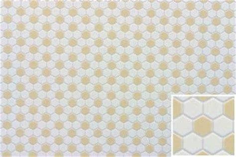 dollhouse building supplies hexagon tile white beige