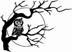 Owl On Tree Branch clip art Free vector in Open office ...