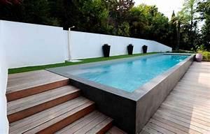 Enterrer Une Piscine Hors Sol : les piscines en bois en photo ~ Melissatoandfro.com Idées de Décoration