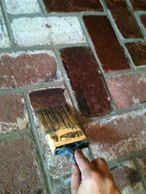 Stain brick/ not paint/used Behr Paint from Home Depot