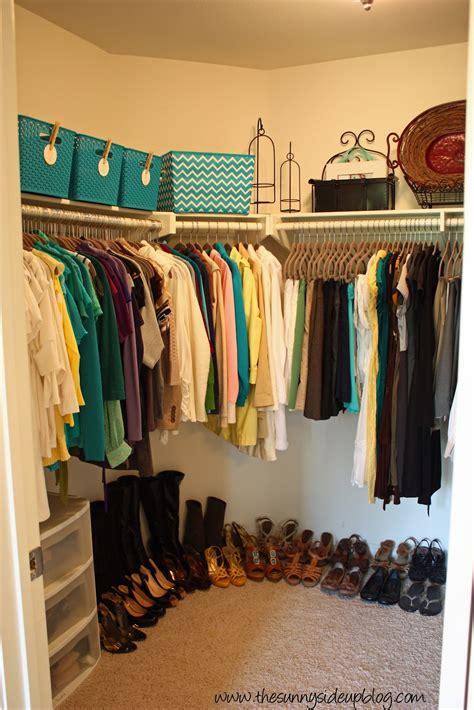 Master Closet Organization (take Two)  The Sunny Side Up Blog