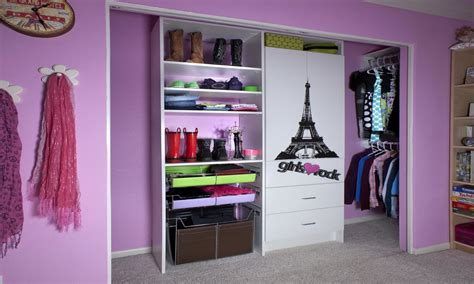 Contemporary girls bedroom, small closet door ideas very