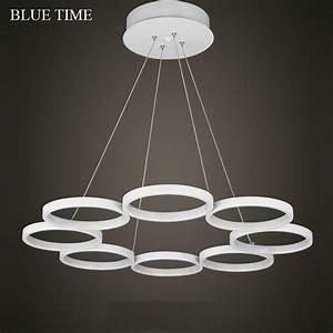 New led pendant lights modern kitchen acrylic suspension