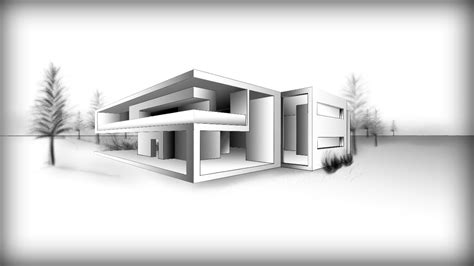Drawing A Modern House