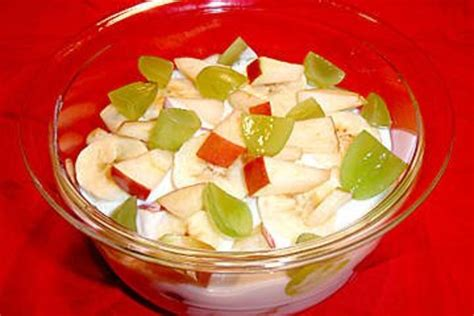 obstsalat mit joghurt fettarm und apfel rezept mit bild
