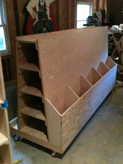 wood storage problem   built  lumber cart
