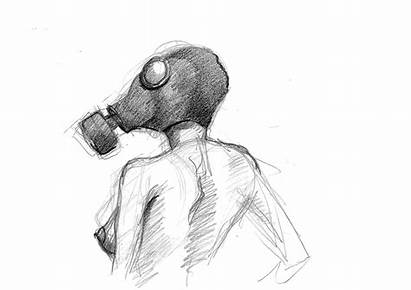 Weird Drawings Gas Mask Masks Sketches Easy