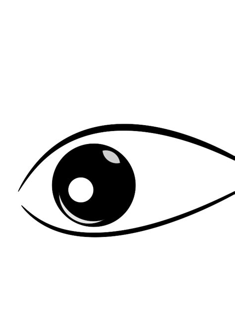 simple eye clipart black and white black and white cat clipart clipartxtras