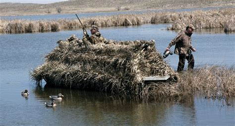 Duck Hunting Out Of A Boat Blind building a diy duck hunting boat blind wide open spaces