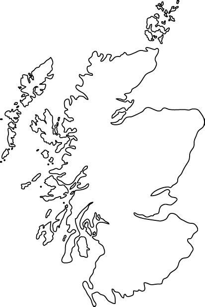 scotland outline map