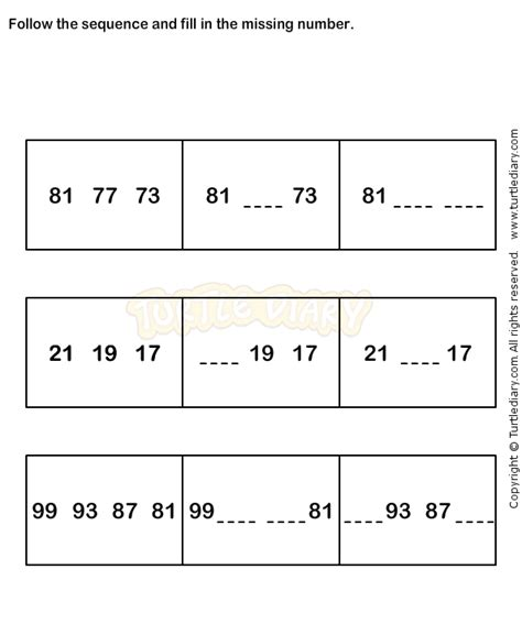 number sequence worksheet 7 math worksheets