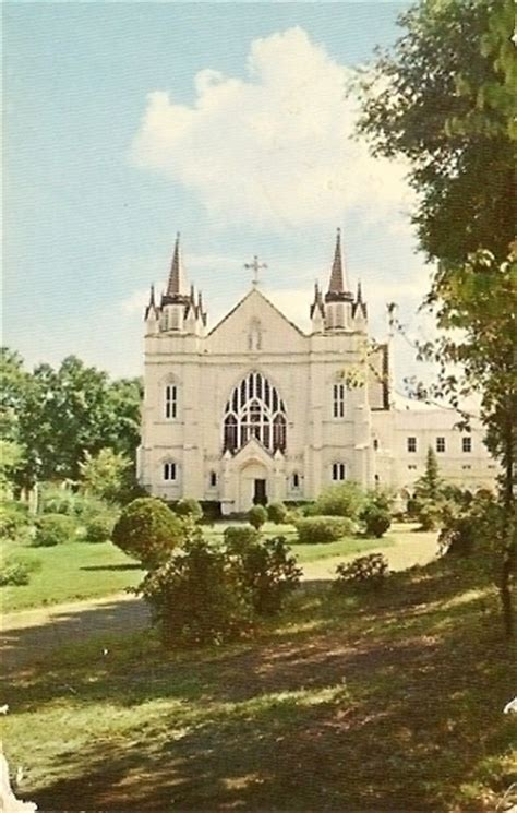spring hill college chapel mobile alabama postcard
