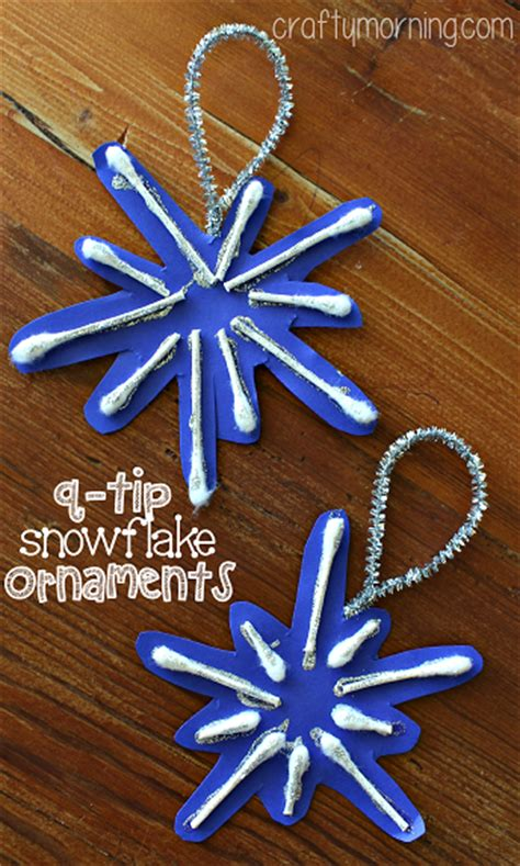 snowflake craft preschool q tip snowflake ornament craft for to make crafty 293