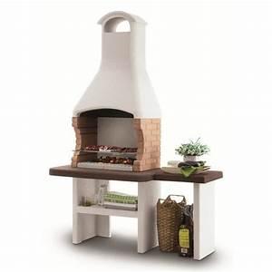 Barbecue En Dur : jesolo barbecue combustible bois ou charbon de bois avec ~ Melissatoandfro.com Idées de Décoration