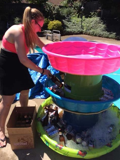 baby pool drinking tower imgur   pool party