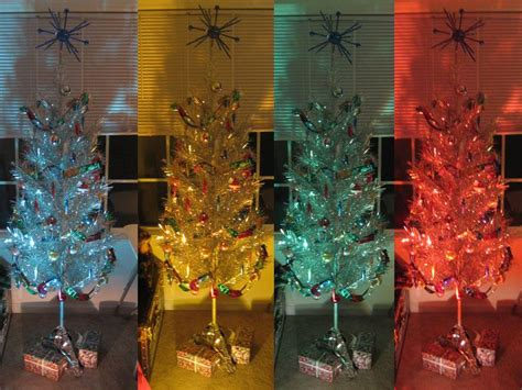 aluminum tree with color wheel light of all the