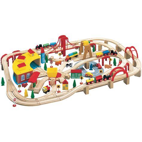 maxim wooden train set  pieces walmartcom