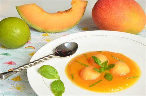 soupe de melon mangue et citron vert julie andrieu