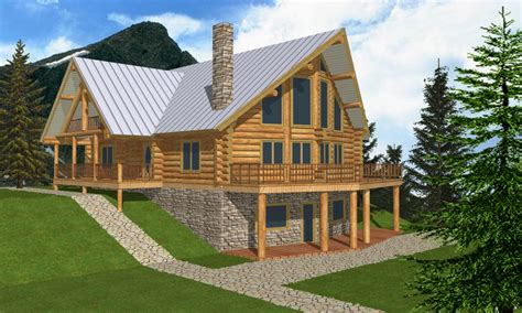 Open Floor Plans Log Cabin Log Cabin Home Plans With