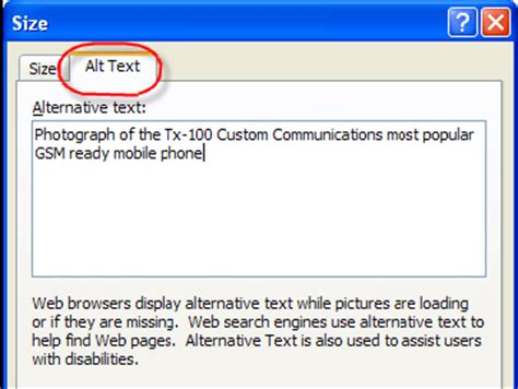 Alt Text For Images Pdf1 Applying Text Alternatives To Images With The Alt