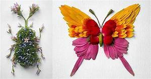 making of paper flower insect flower arrangements by raku inoue colossal
