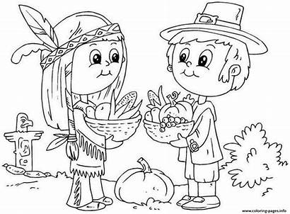 Coloring November Thanksgiving Printable Kid Pages