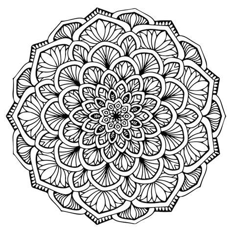 Mandalas Para Colorear Dificiles  Coloring Sheets