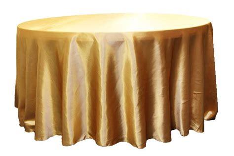 "Satin 120"" Round Tablecloth Gold Antique 120 round"
