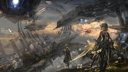 Sci Fi Anime Spaceship Aircraft Wallpapers Gate