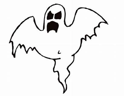 Ghost Coloring Halloween Clipart Scary Printable Clip