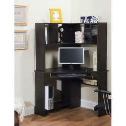 morgan corner computer desk and hutch black oak walmart com