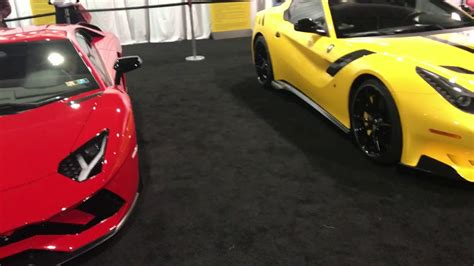 Pittsburgh Auto Show 2018exotic Car Row Youtube