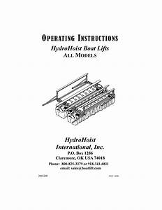 Hydrohoist Boat Lift Owners Operating Guide