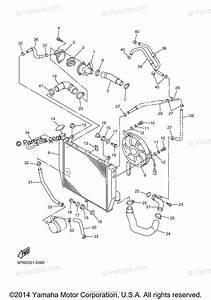 Yamaha Motorcycle 2002 Oem Parts Diagram For Radiator Hose