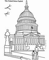 Capitol Building Coloring Pages Landmarks Places Sheets Around Printable Colouring Print Drawing Famous Patriotic American Adult Buildings Sheet Collection Coloringpagesfortoddlers sketch template