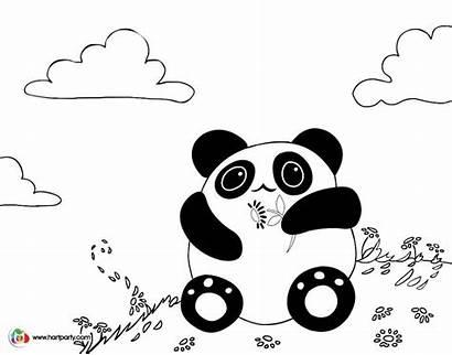 Sherpa Panda Coloring Kawaii Clipart Pages Colouring