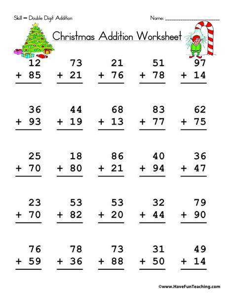 1st grade math worksheet 2 digit addition digit addition worksheet teaching