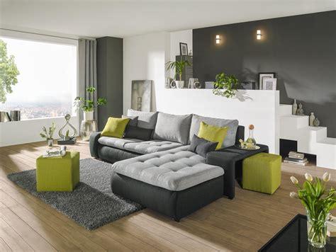 Wohnzimmer Grün Streichen by Wohnlandschaft Carryhome In Grau Mit Schlaffunktion