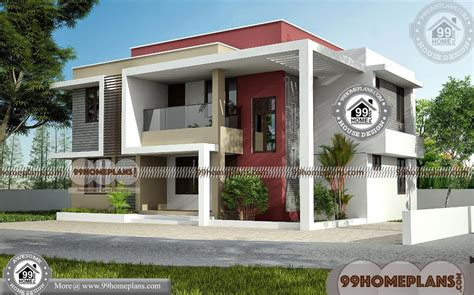 box type house roofing modern  exterior elevations plan collections