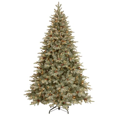 national artificial christmas trees national tree company 7 1 2 feel real frosted artic spruce 3432