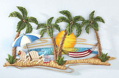 tropical metal wall caribbean tropical decor wall with tropical