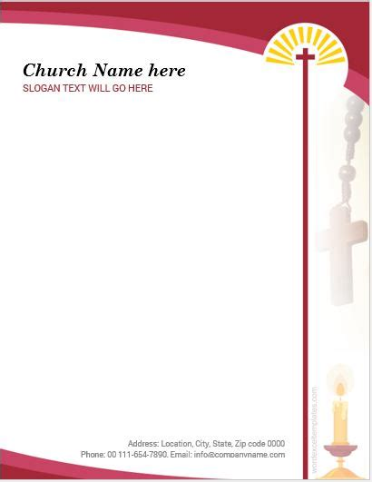 The major focus of letterhead templates is to a church is a holy place where christians pray to jesus and also ritually used for any wedding purposes. 5 Best MS Word Church Letterhead Templates   Word & Excel ...