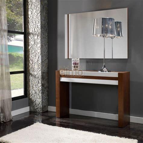 canapes d angle cuir console entrée moderne bois et laque brillante
