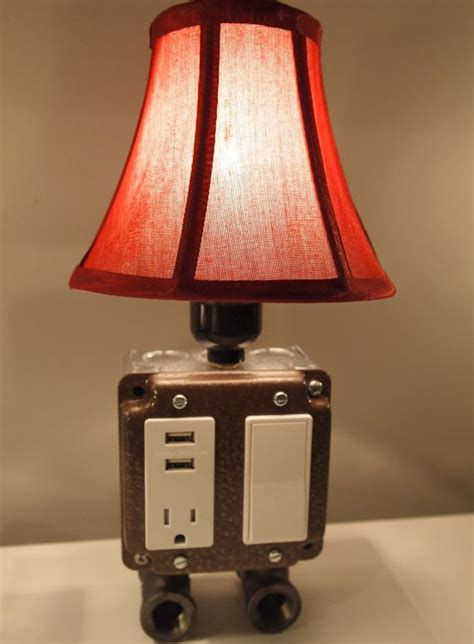 vintage style table  desk lamp  usb charging