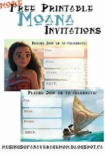 Musings of an average mom free printable moana invitations 2 for Moana invitation free