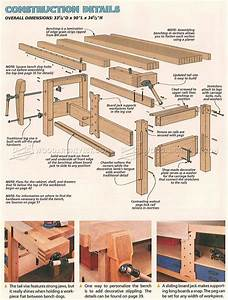 Shaker Workbench Plans • WoodArchivist