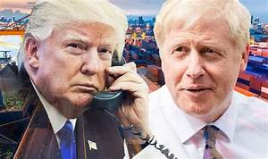 Boris Johnson and Trump START TRADE TALKS? Pair discuss ...